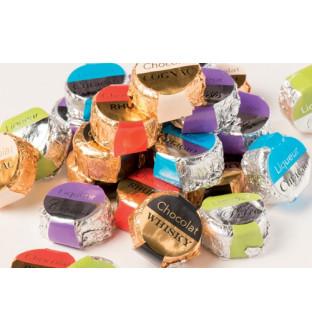 Chocolats à la liqueur (Cognac, Rhum, Eau de Vie Poire William, Cassis, Curaçao, Whisky)