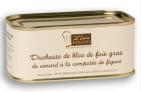 Duchesse de bloc de foie gras de canard à la compotée de figues (70% de bloc de foie gras)