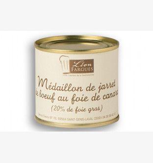 Médaillon de jarret de boeuf au foie de canard (20% de foie gras)