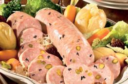 Lot de 3 saucissons à cuire de Lyon pistachés avec des morilles