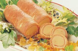 Lot de 2 boîtes de 2 flûteaux de jambon au bloc de foie gras de canard